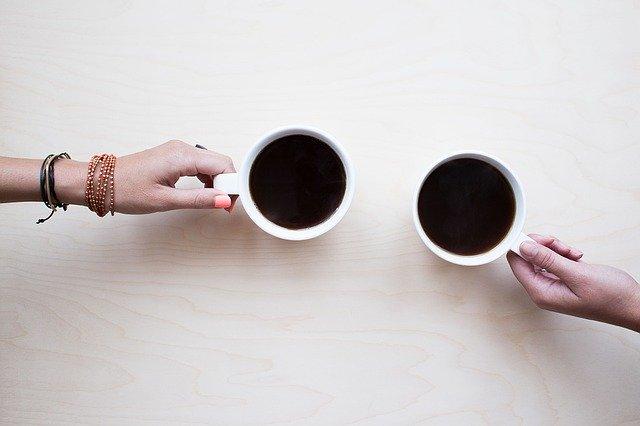 友人とコーヒー